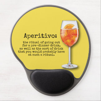 Italian Aperitivo - Mouse pad with wrist rest