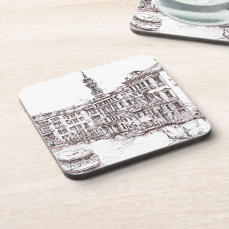 Italian architecture drawings coaster