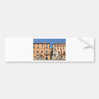 Italian architecture in Piazza Navona,Rome, Italy Bumper Sticker