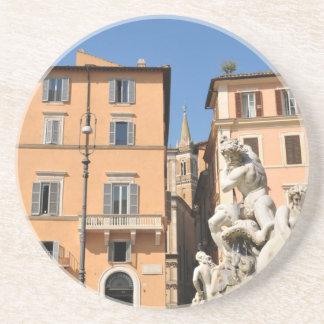 Italian architecture in Piazza Navona,Rome, Italy Coaster