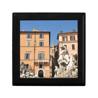 Italian architecture in Piazza Navona,Rome, Italy Gift Box