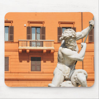 Italian architecture in Piazza Navona,Rome, Italy Mouse Pad