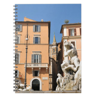 Italian architecture in Piazza Navona,Rome, Italy Notebooks