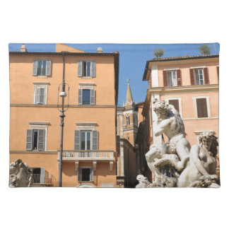 Italian architecture in Piazza Navona,Rome, Italy Placemat
