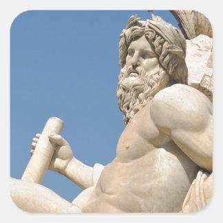 Italian architecture in Piazza Navona,Rome, Italy Square Sticker