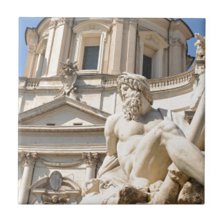 Italian architecture in Piazza Navona,Rome, Italy Tile
