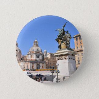 Italian architecture in Rome, Italy 2 Inch Round Button