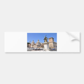 Italian architecture in Rome, Italy Bumper Sticker