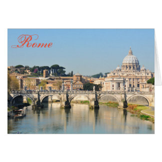 Italian architecture in Rome, Italy Card