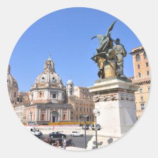 Italian architecture in Rome, Italy Classic Round Sticker