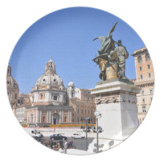 Italian architecture in Rome, Italy Plate