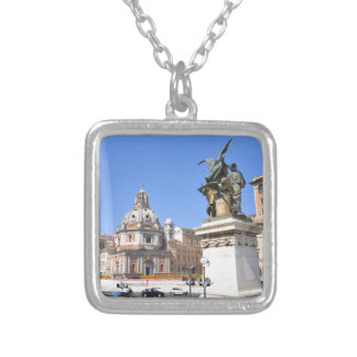 Italian architecture in Rome, Italy Silver Plated Necklace