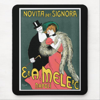 Italian Art Nouveau Fashion Ad Mouse Pad