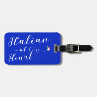Italian At Heart Luggage Tag Template, Italy