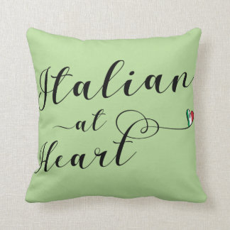 Italian At Heart Throw Cushion, Italy Throw Pillow