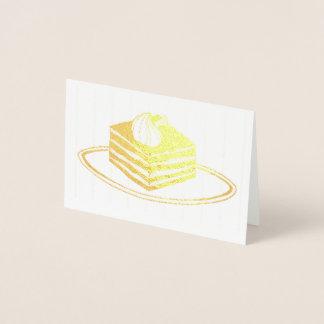 Italian Bakery Classic Tiramisu Dessert Food Foil Card