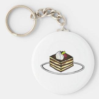 Italian Bakery Tiramisu Dessert Pastry Keychain