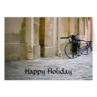 ITALIAN BIKE HAPPY HOLIDAY CARD