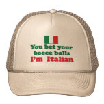 Italian Bocce Balls Mesh Hat