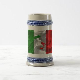 Italian boot beer stein