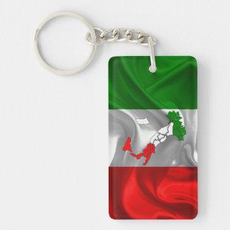 Italian boot Double-Sided rectangular acrylic keychain
