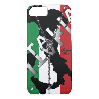 italian boot italy italia flag cross rosary bead iPhone 8/7 case