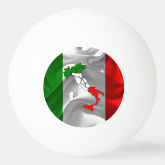 Italian boot ping pong ball