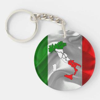 Italian boot Single-Sided round acrylic keychain