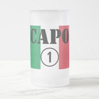 Italian Bosses : Capo Numero Uno Frosted Glass Beer Mug