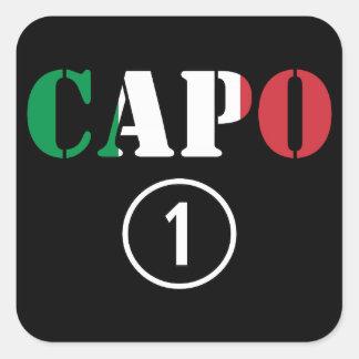 Italian Bosses : Capo Numero Uno Square Sticker