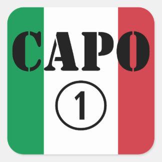 Italian Bosses : Capo Numero Uno Square Stickers