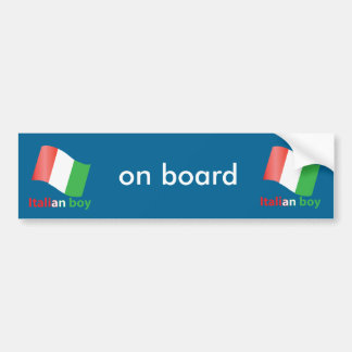 Italian boy bumper sticker