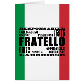 Italian Brothers : Qualities Card