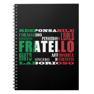 Italian Brothers : Qualities Spiral Note Books