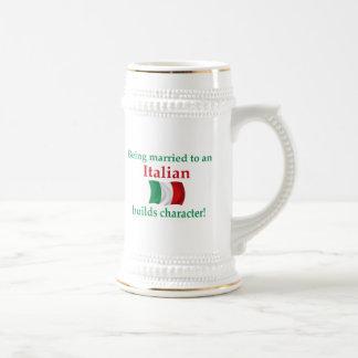 Italian Builds Character 18 Oz Beer Stein