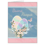 Italian - Buona Pasqua - Watercolour Easter Eggs Greeting Cards