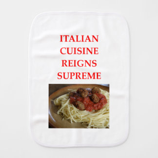 italian burp cloth