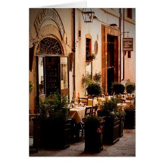 Italian Cafe' Spoleto Italy - Greeting Card