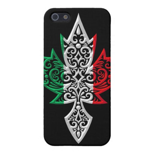 Italian Canadian Maple Leaf - black Covers For iPhone 5