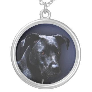 Italian Cane Corso Dog Portrait Silver Plated Necklace