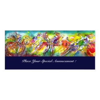 """ITALIAN CARNIVAL Masquerade Ball,Dance and Music 4"""" X 9.25"""" Invitation Card"""