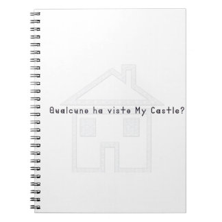 Italian-Castle Spiral Notebook