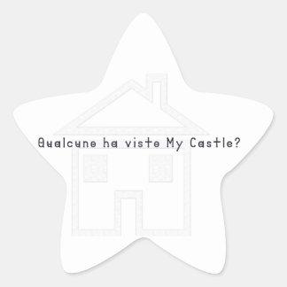 Italian-Castle Star Sticker