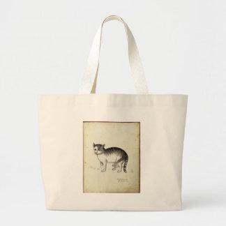 Italian Cat Artwork Large Tote Bag