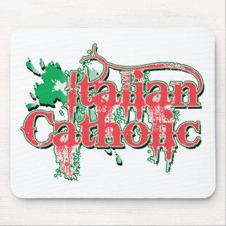 Italian Catholic Gothic Cross Mouse Pads
