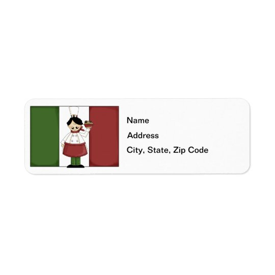 Italian Chef #3 Return Address Label