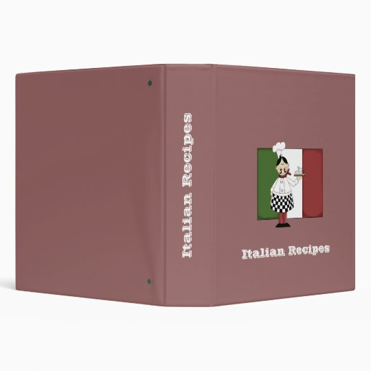 Italian Chef #7 Recipe Binder