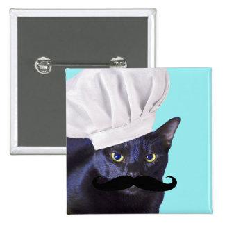 Italian Chef, Black Cat Pinback Buttons