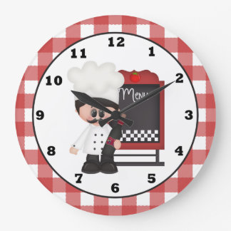 Italian Chef Fun wall clock