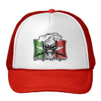 Italian Chef Skull Hat: Mangia! Mangia! Trucker Hat